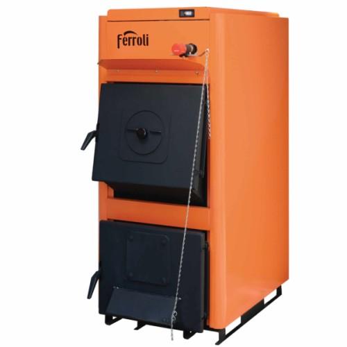 Cazan combustibil solid FERROLI FSB PRO N 25, 25 kW